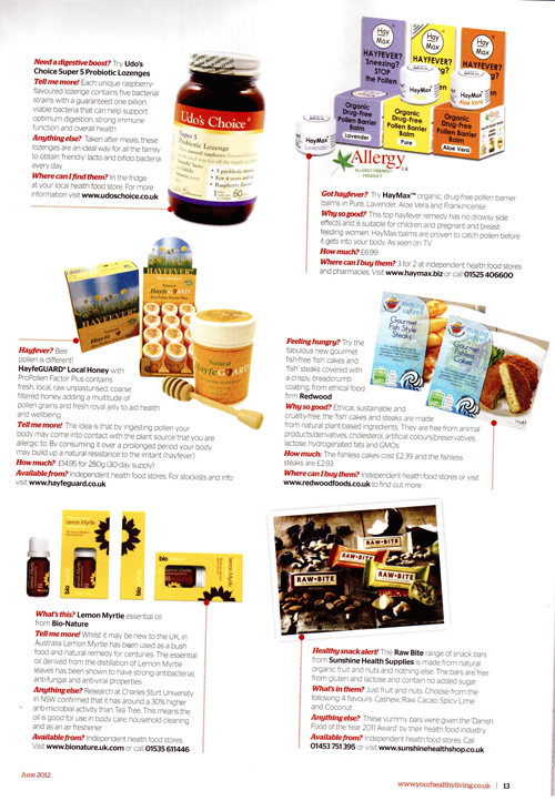 Your Healthy Living Mag June 2012, artical
