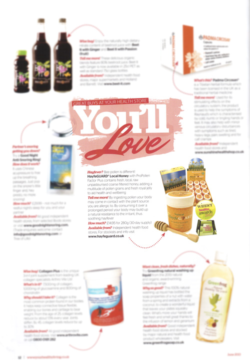 Your Healthy Living Magazine, June 2013- article