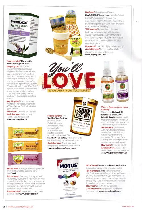 Your Healthy Living Feb 2015- feature